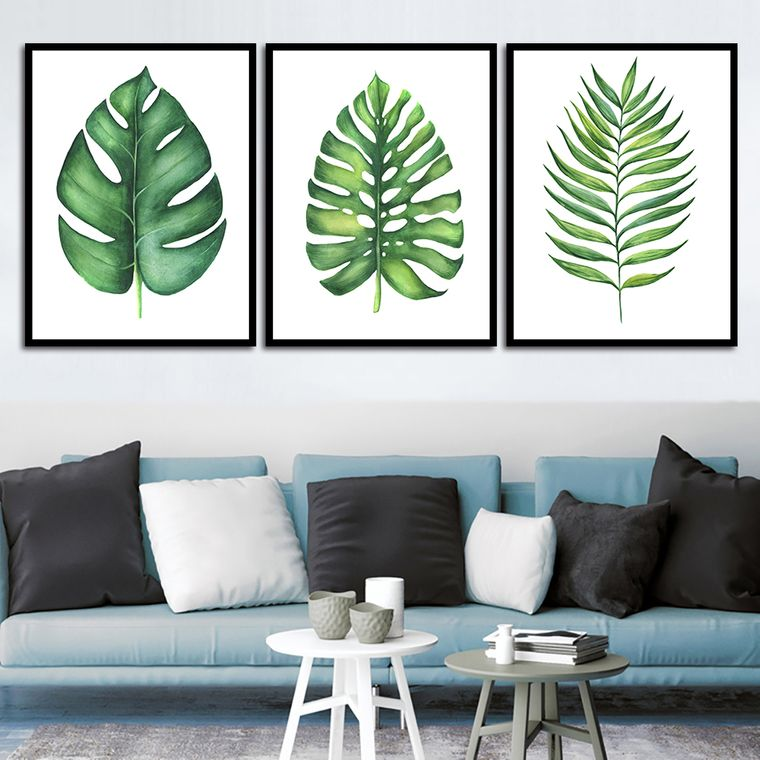 interior decoration with green leaves