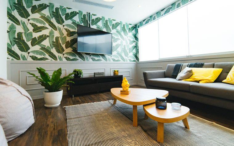 tropical style interior decoration