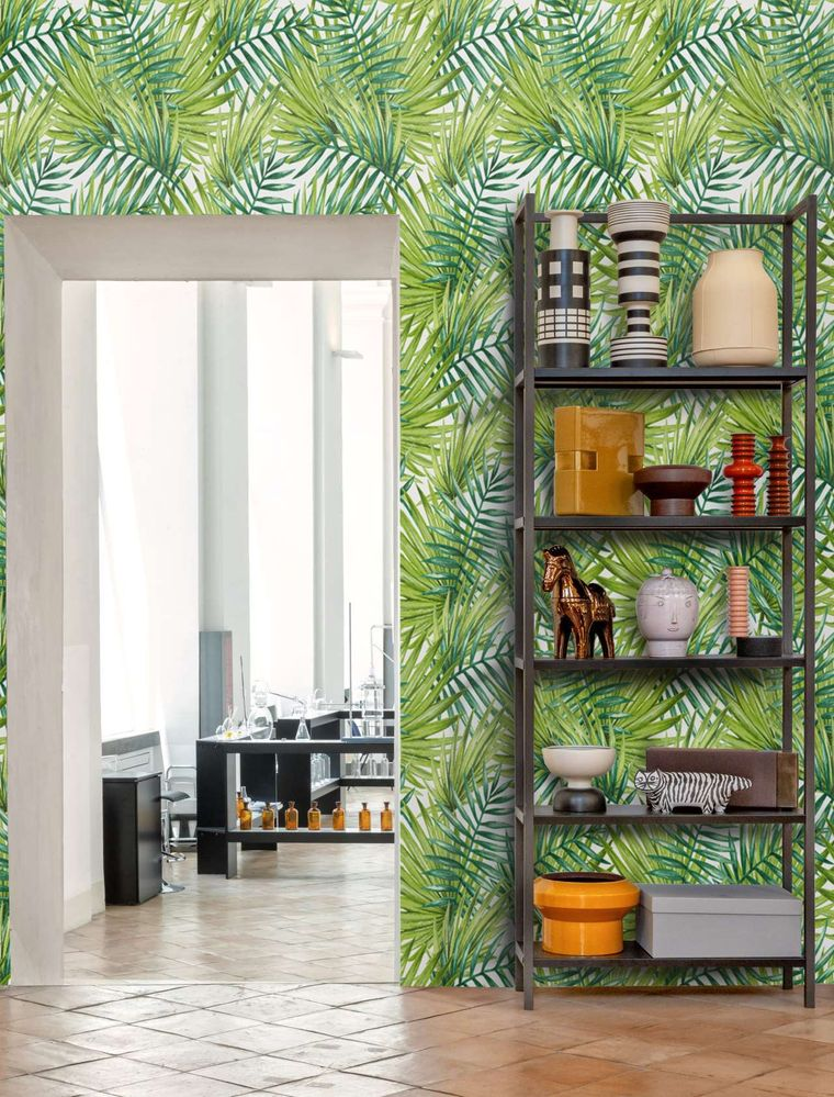 tropical paper interior decoration