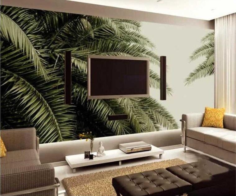palm tree wall interior decoration