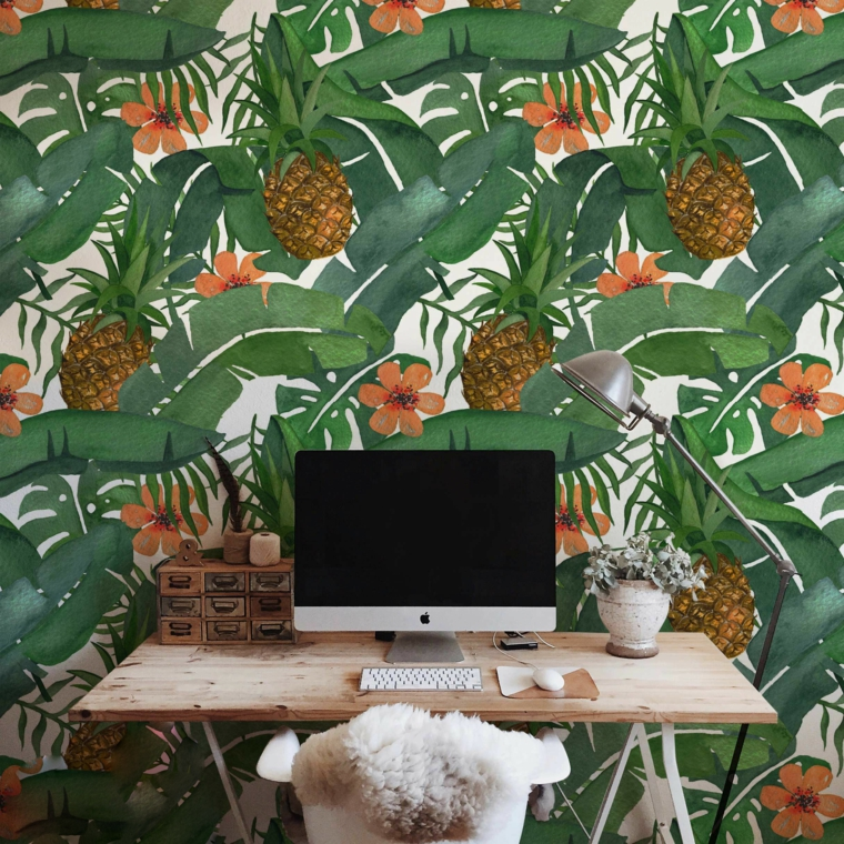 green leaves-tropical-office-home