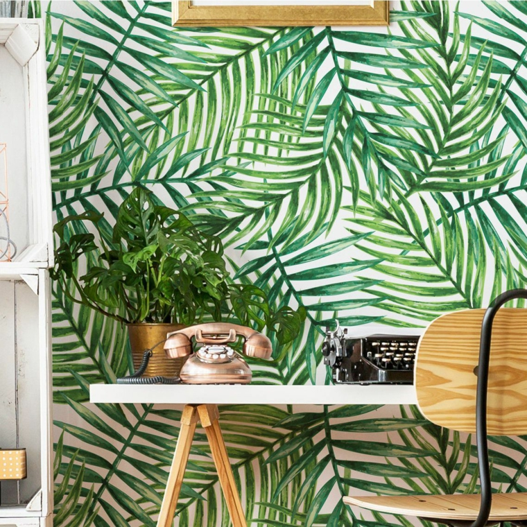 green leaves-tropical-paper-ideas-wall