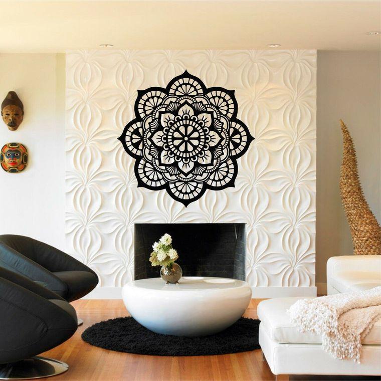 fireplace mandala decor