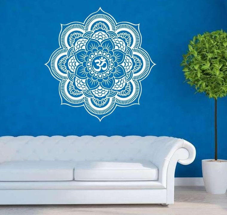decoration with mandalas in blue