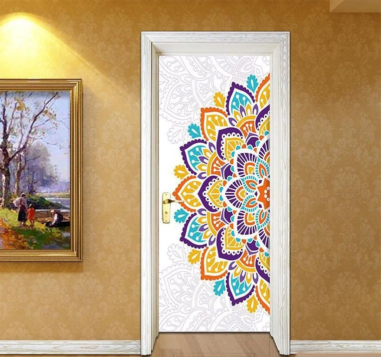 decoration with mandalas on the door