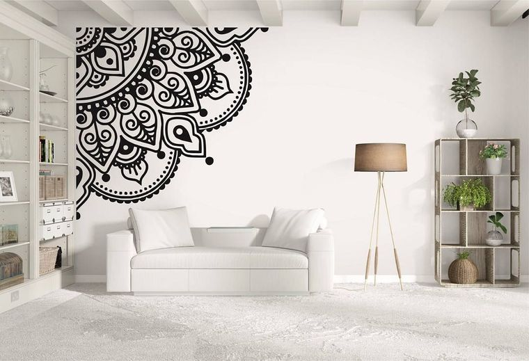 wall corner mandala decor