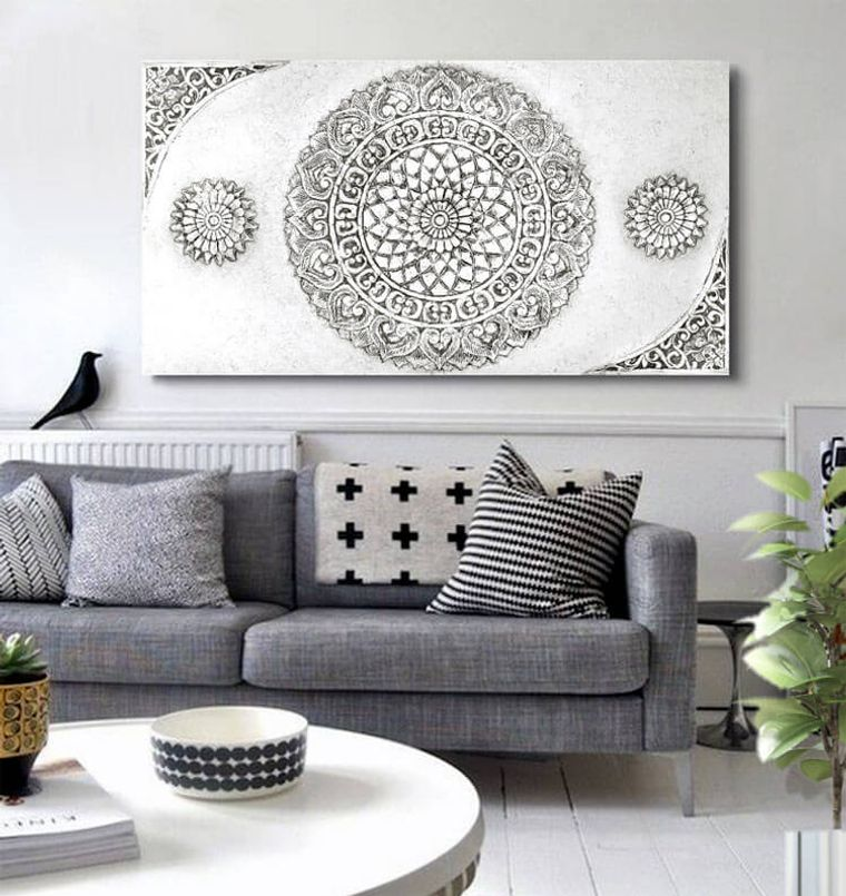 decoration with mandalas large picture living room