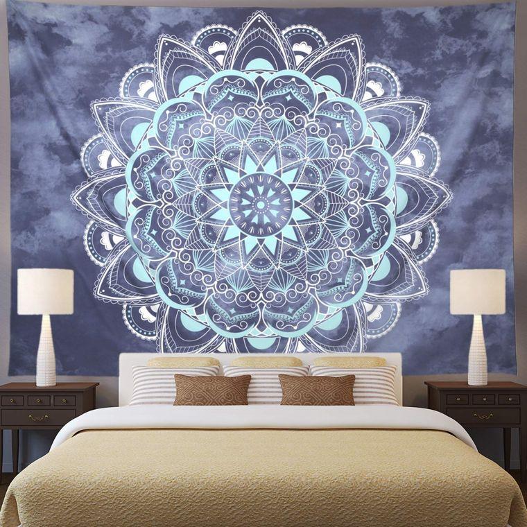 bedroom wall decor with mandalas