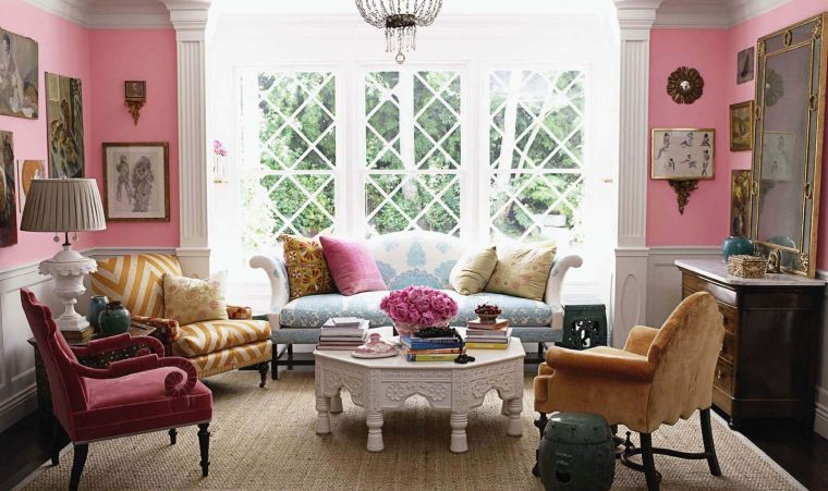 eclectic pink decor