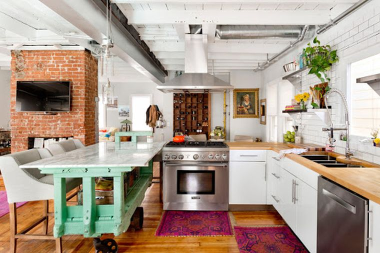 eclectic decor great kitchen