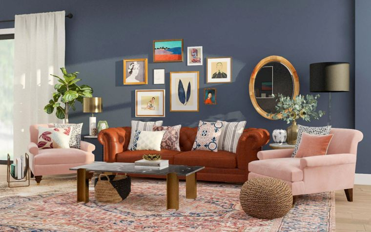 eclectic accent wall decor