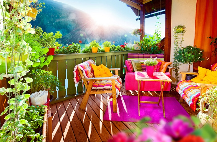 creative ideas cheerful balcony