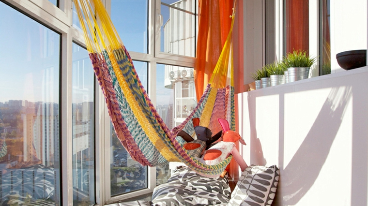 creative ideas balcony with hammock