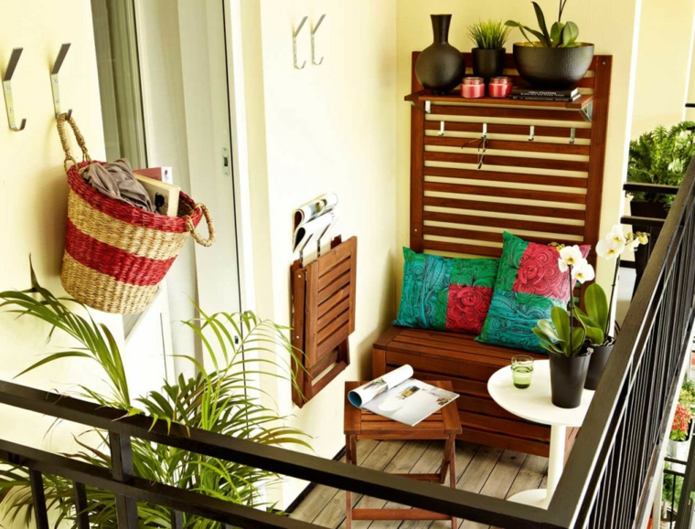 creative ideas balcony compact furniture