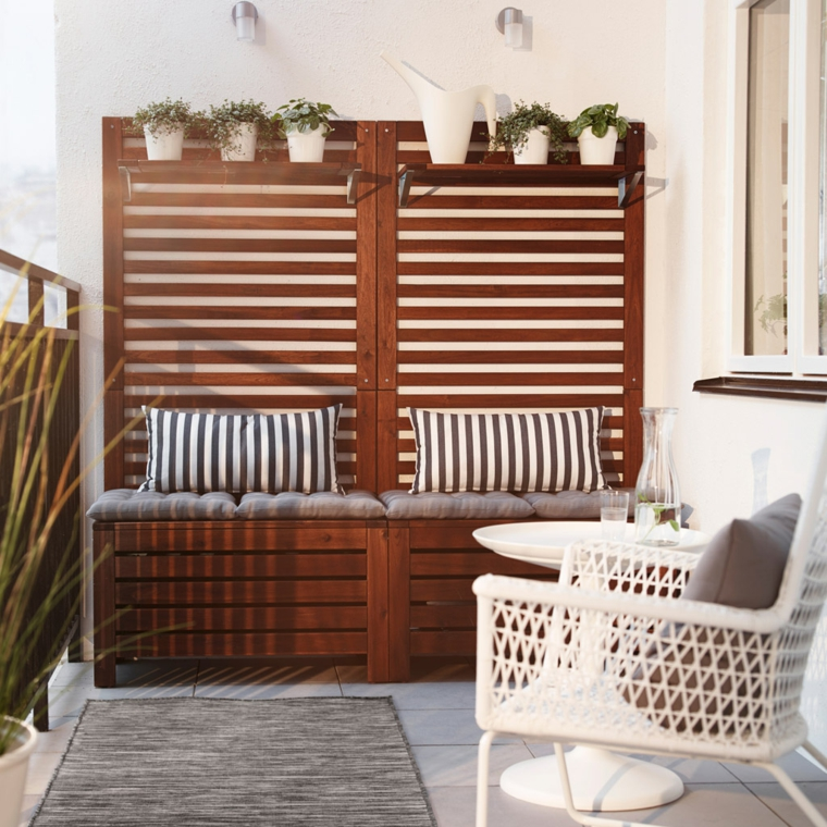creative ideas balcony sturdy furniture