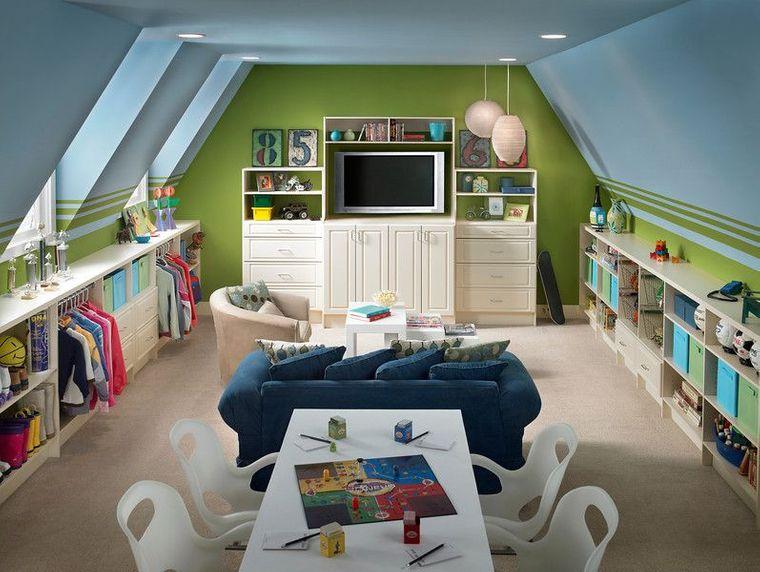 playroom storage walls