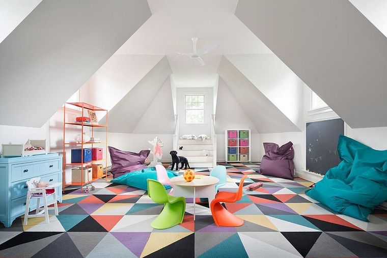 colorful game room