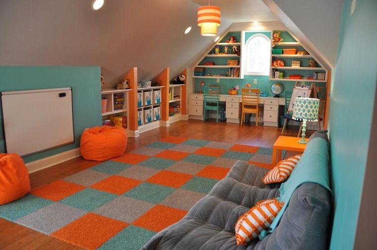 blue orange game room