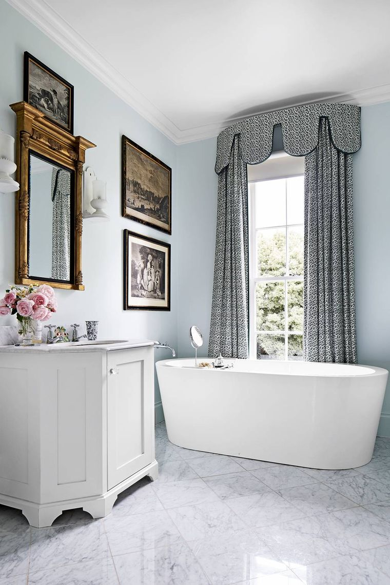 types of bathroom curtains