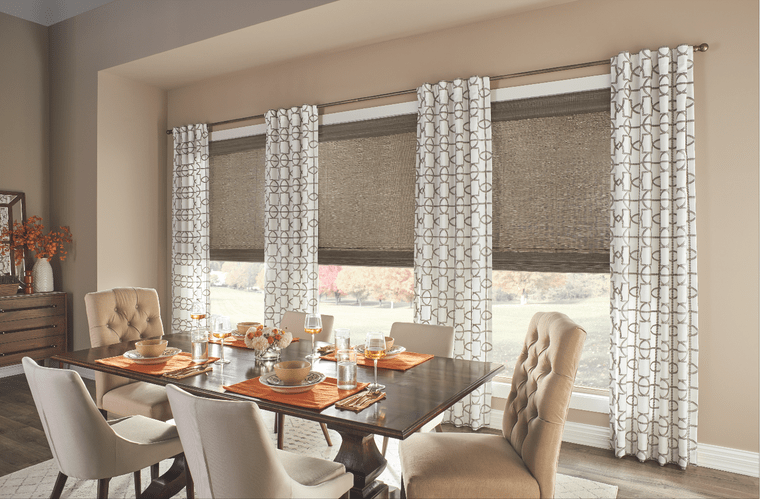 types of dining room curtains