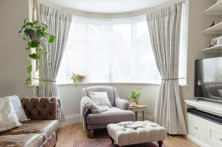 types of curtains with rails