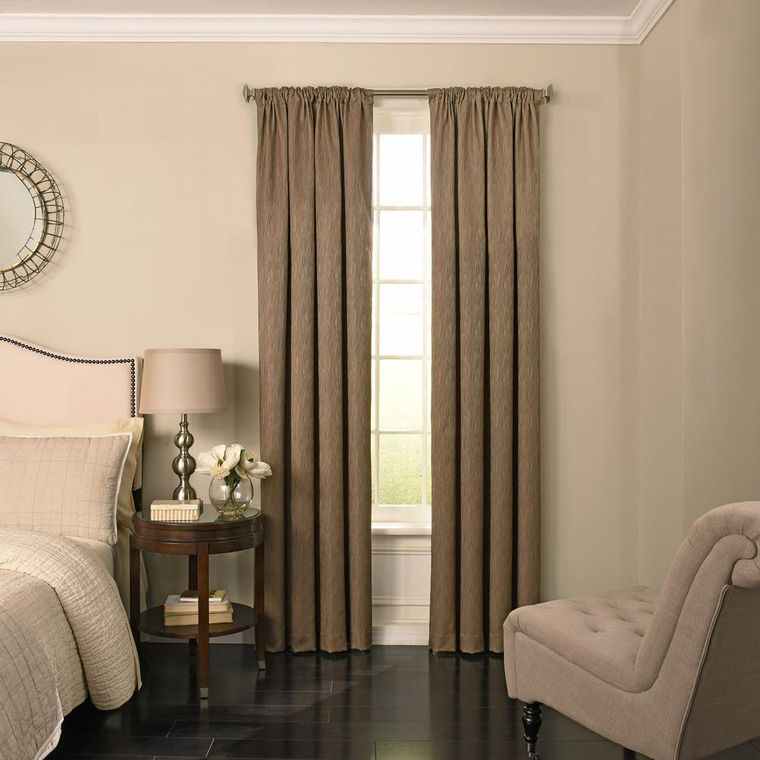 types of long curtains