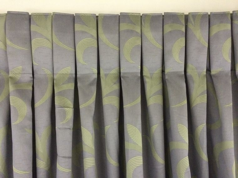 types of curtains pleated box