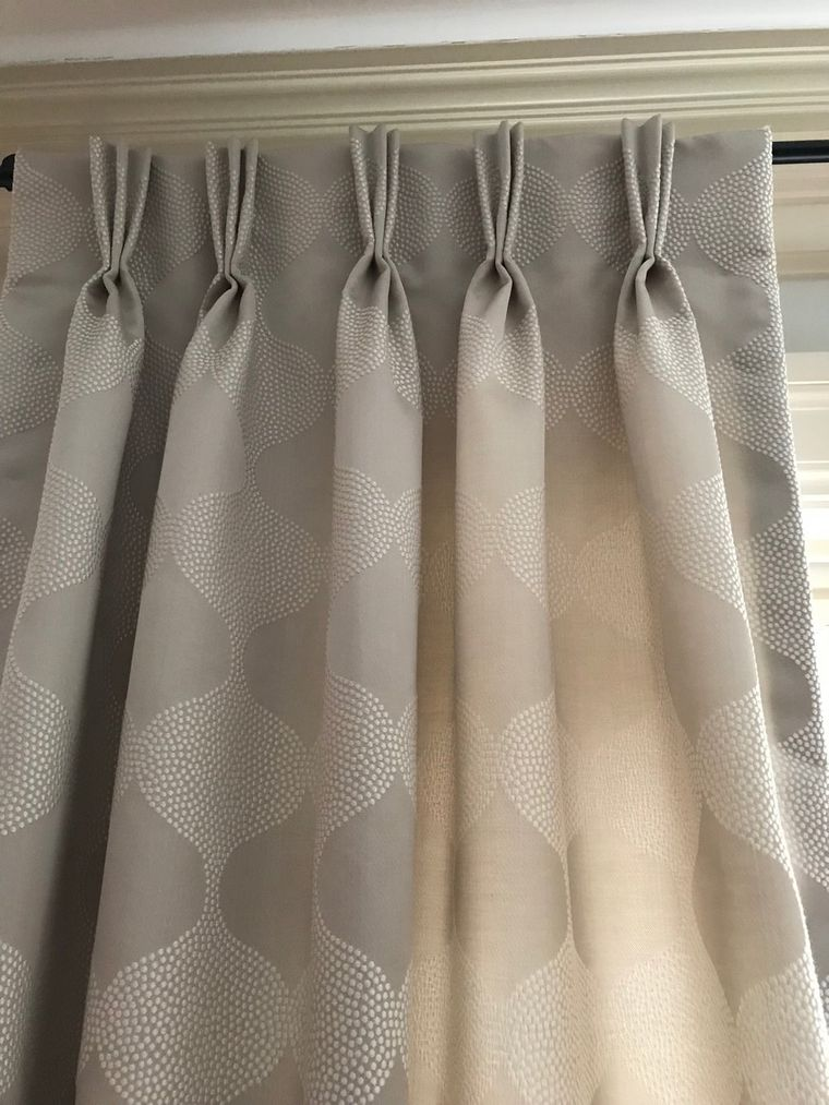 types of french pleated curtains