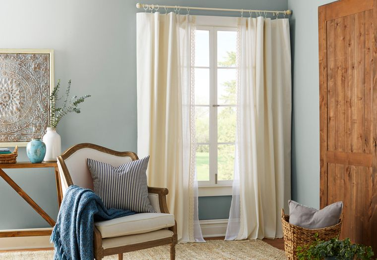 types of curtains living room