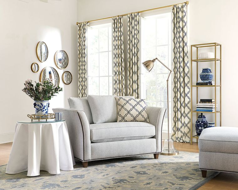 types of living room curtains