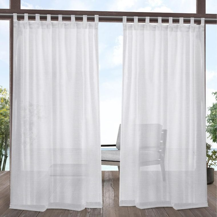types of tab top curtains
