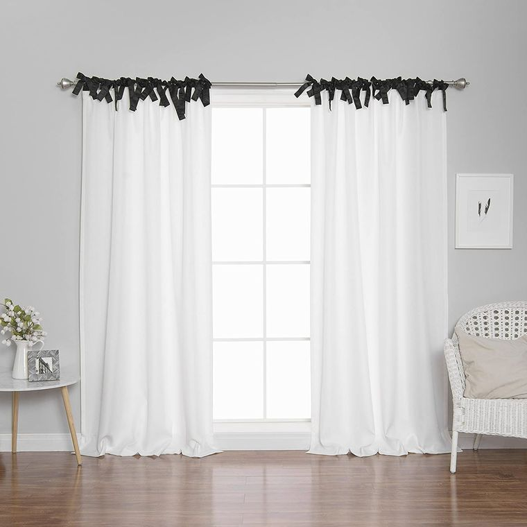 types of tie top curtains