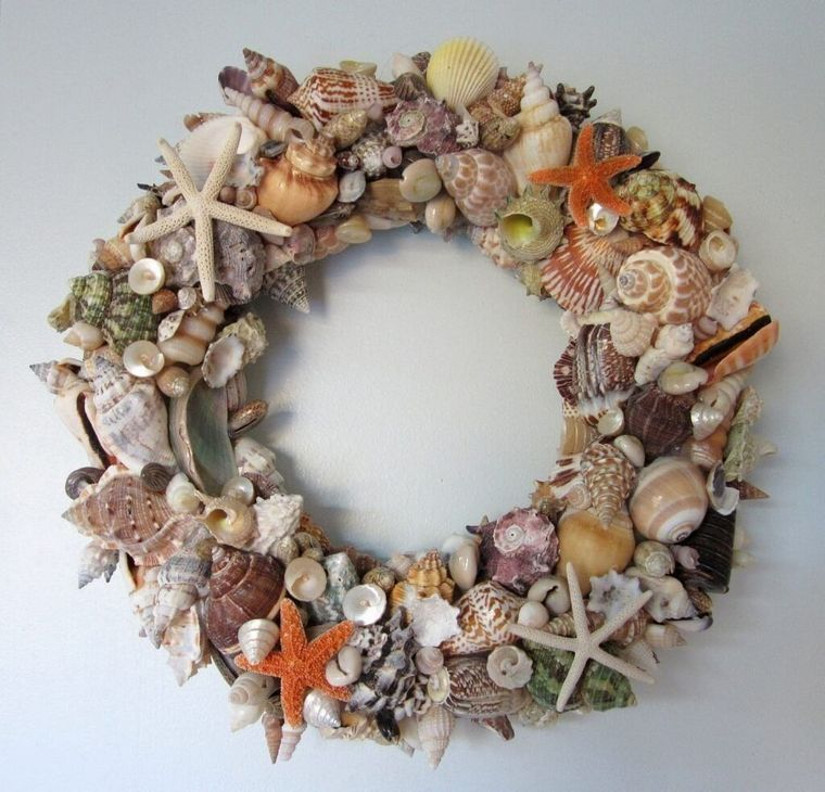 conchas marinas corona bricolaje