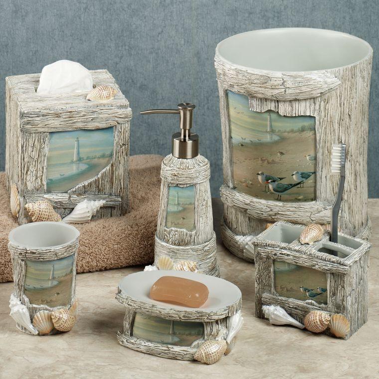 conchas marinas decoracion baño