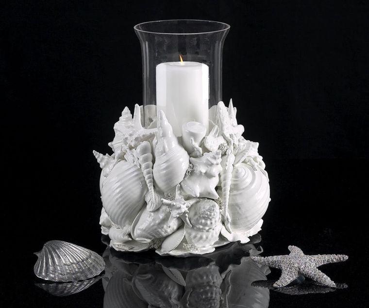 conchas marinas decoracion jarron