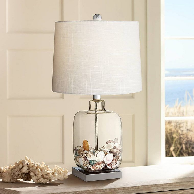 conchas marinas lamparas de mesa