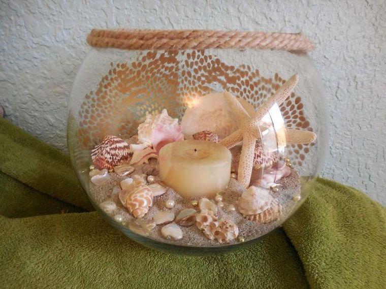 conchas marinas pieza central