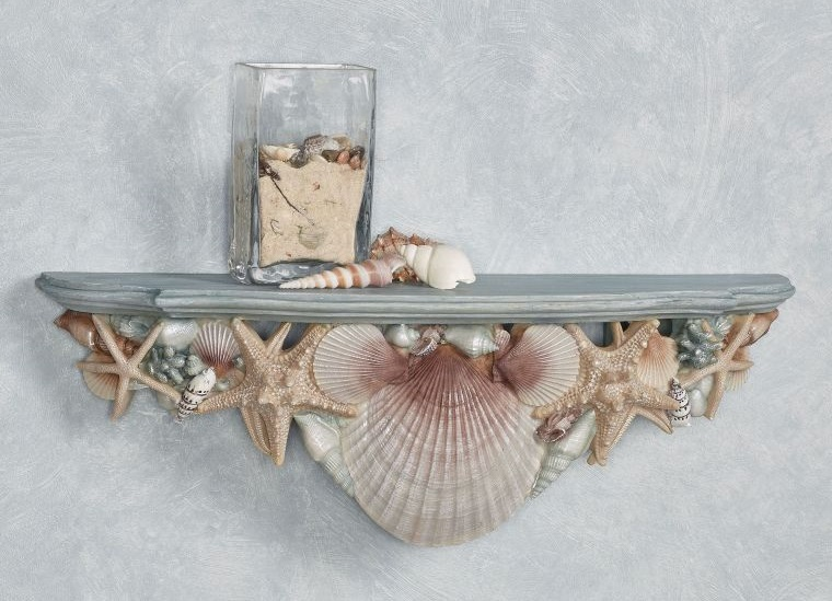 conchas marinas repisa