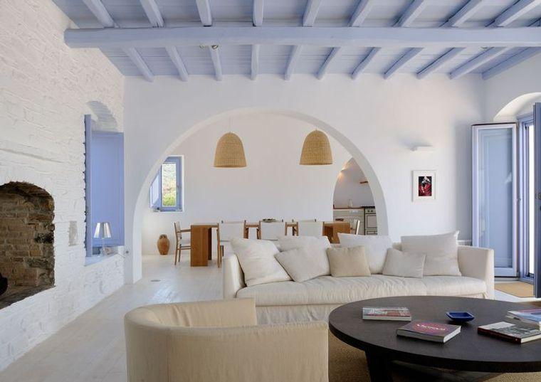 estilo mediterráneo calido azul