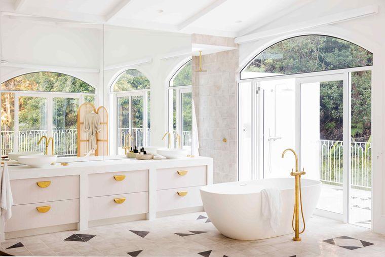 estilo mediterráneo cuarto baño