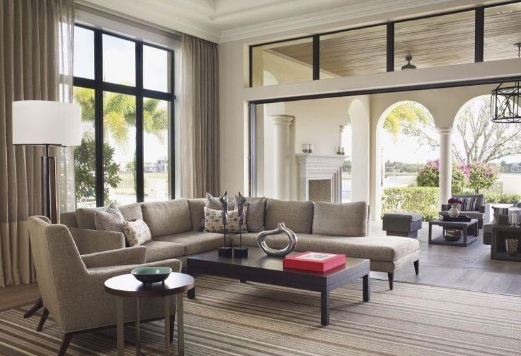 estilo mediterráneo sala de estar