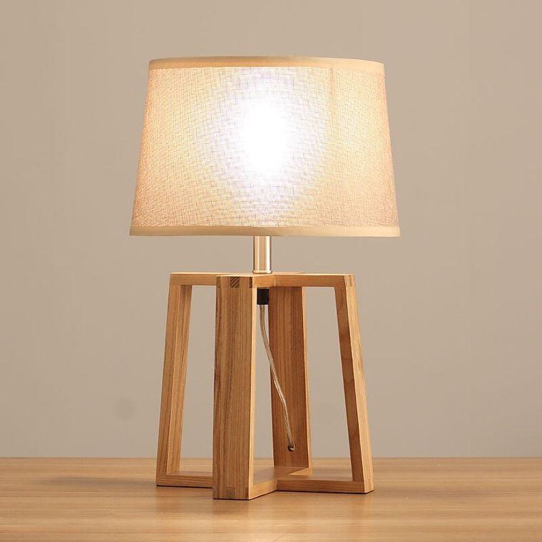 wood base table lamps