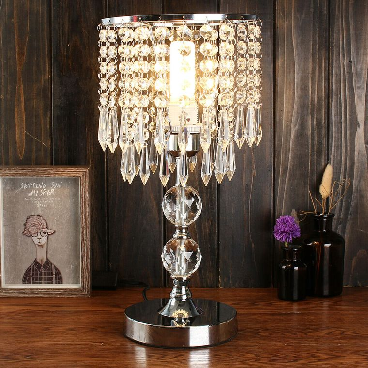 table lamps crystals tears