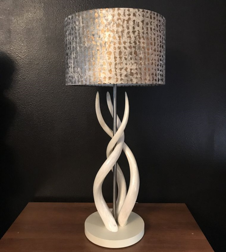 metallic lampshade table lamps