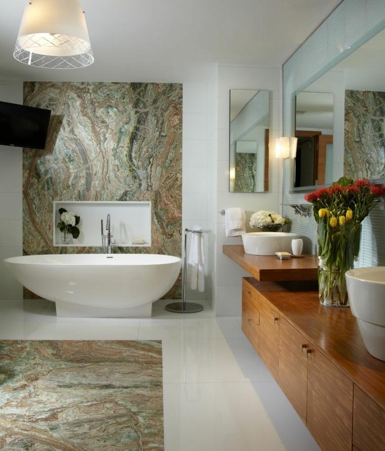 marmol-para interiores-bano-banera-pared