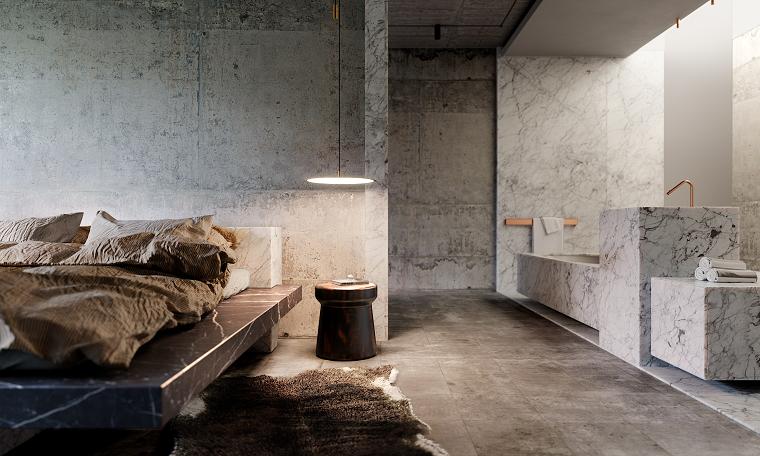 Mármol para interiores-dormitorio-estilo