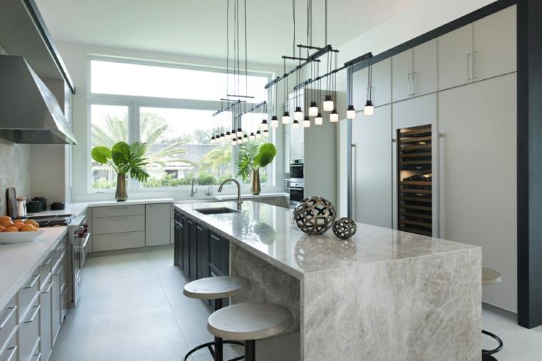 marmol-para interiores-isla-cocina-estilo