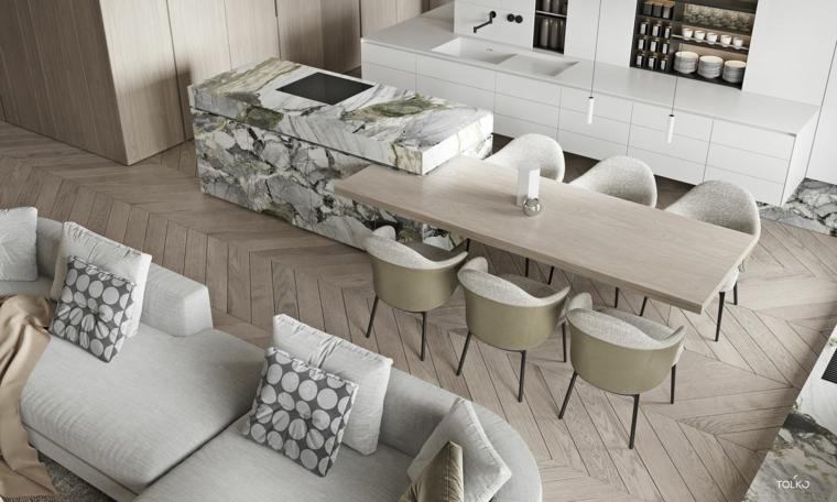 marmol-para interiores-isla-estilo-opciones