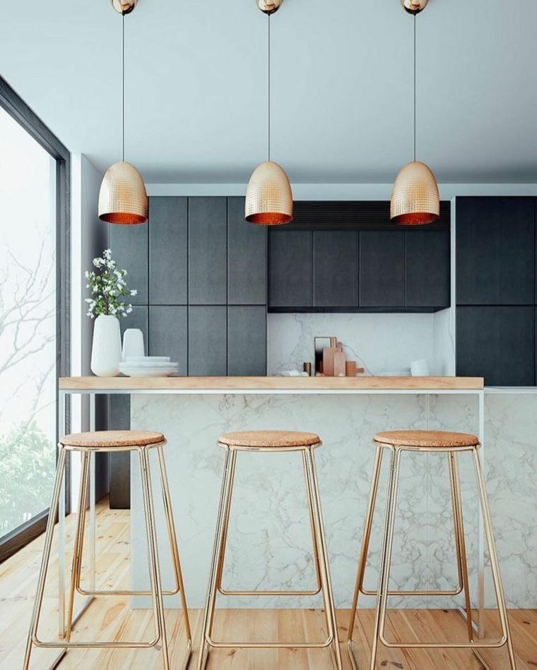 marmol-para interiores-isla-estilo