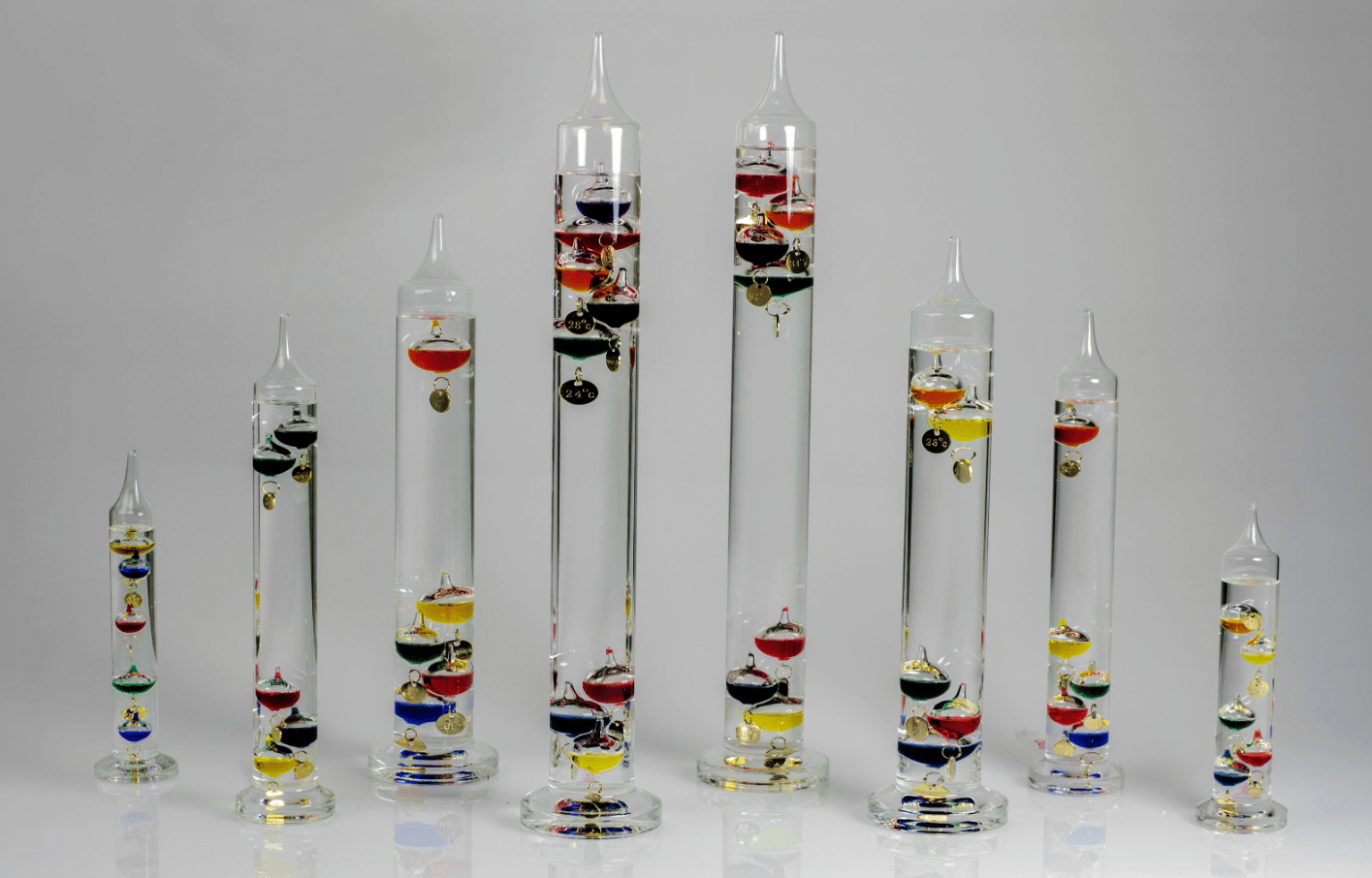 Galilean thermometer decoration